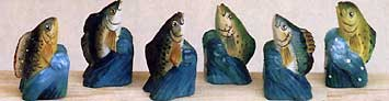 HAND CARVED & HAND PAINTED PENCIL SHARPENERS: FISH