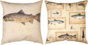 LAKE HOUSE BROWN TROUT CLIMAWEAVE PILLOW