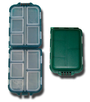 Small Folding Fly Box - 10 Compartment