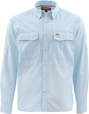 <font color=red>On Sale - Clearance</font><br>Simms Deceiver LS Shirt - Light Blue