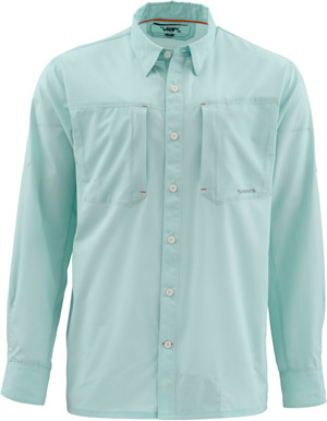 <font color=red>On Sale - Clearance</font><br>Simms Ultralight LS Shirt - Light Teal