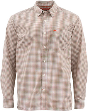 <font color=red>On Sale - Clearance</font><br>Simms Westshore LS Shirt - Dune Plaid