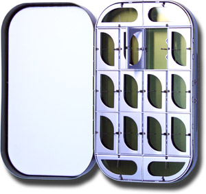 Aluminum Fly Box - 16 Compartment - Olive