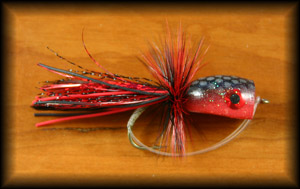 Bass Popper - Black/Red