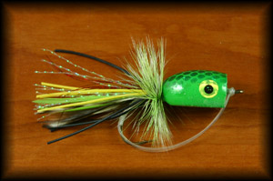 Bass Popper - Green Frog