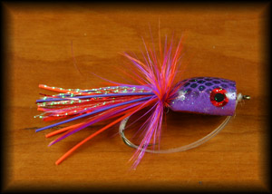 Bass Popper - Purple/Red