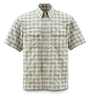 <font color=red>On Sale - Clearance</font><br>Simms Big Sky Shirt - Short Sleeve - Birch Plaid