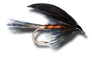 Black and Orange Wet Fly