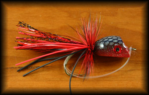 Bubble Diver Popper - Black/Red