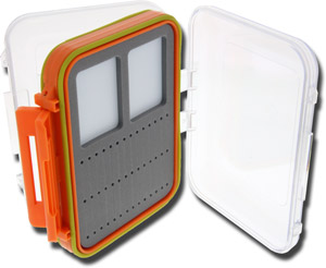 Clear-View Magnetic Fly Box - Small - Orange