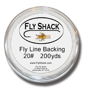 Fly Shack Backing - White - 200 yds
