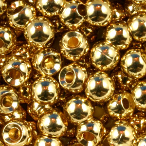 Tungsten Nymph Beads - 100/Bag - Gold
