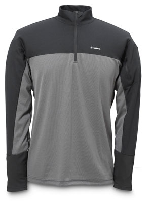 Simms Rivertek Zip Top - Black/Gunmetal