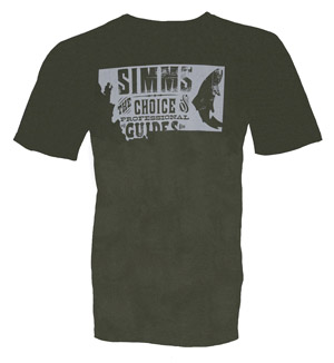 <font color=red>On Sale - Clearance</font><br>Simms Anglers Choice T-Shirt - SS - Olive