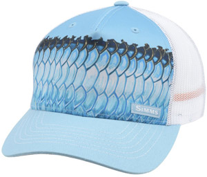 <font color=red>On Sale - Clearance</font><br>Simms Artist Series 5 Panel Trucker - Deyoung Tarpon Sky Blue