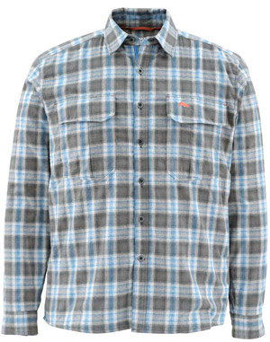 <font color=red>On Sale - Clearance</font><br>Simms Coldweather LS Shirt - Tidal Blue Plaid