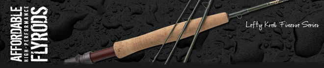 "Lefty Kreh Finesse Rod Series - 7' 3"" 2wt 4pc (TF 02 73 4 F)"