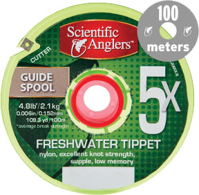 <font color=red>On Sale - Clearance</font><br>SA Freshwater Tippet – 100 Meter Guide Spool