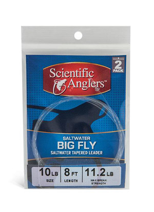 <font color=red>On Sale - Clearance</font><br>Scientific Anglers Saltwater (Big Fly) Tapered Leader w/ Loop - 2 Pack