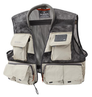 <font color=red>On Sale - Clearance</font><br>Simms Headwaters Mesh Vest - Sand