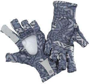 <font color=red>On Sale - Clearance</font><br>Simms Solarflex Sunglove - Tribal Wave Nightshade