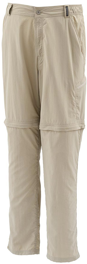 <font color=red>On Sale - Clearance</font><br>Simms Superlight Zip-Off Pant - Cork