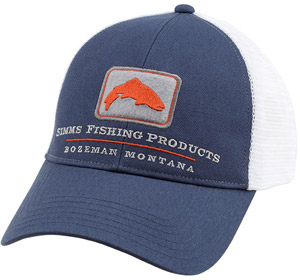 <font color=red>On Sale - Clearance</font><br>Simms Trout Trucker Cap - Indigo