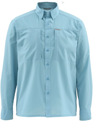 <font color=red>On Sale - Clearance</font><br>Simms Ultralight LS Shirt - Sky Blue
