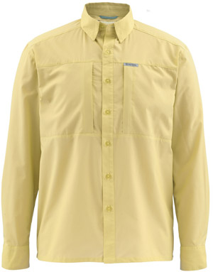 <font color=red>On Sale - Clearance</font><br>Simms Ultralight LS Shirt - Straw