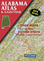 DELORME ALABAMA ATLAS AND GAZETTEER