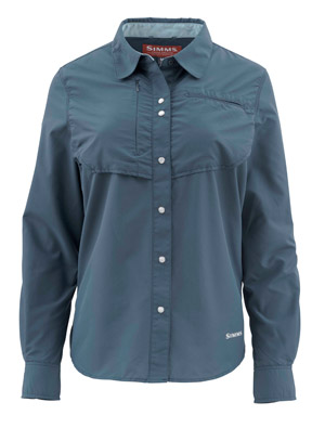 <font color=red>On Sale - Clearance</font><br>Simms Women's Big Sky LS Shirt - Dark Moon