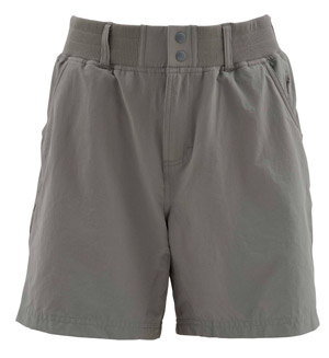 <font color=red>On Sale - Clearance</font><br>Simms Women's Drifter Shorts - Pewter