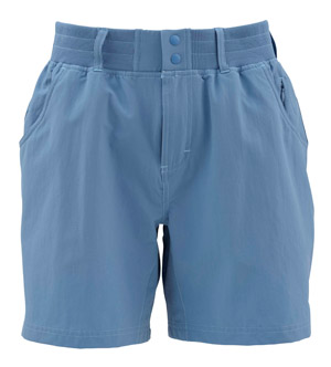 <font color=red>On Sale - Clearance</font><br>Simms Women's Drifter Shorts - Sky Blue