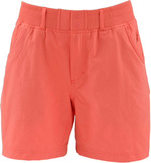<font color=red>On Sale - Clearance</font><br>Simms Women's Drifter Short - Dark Coral