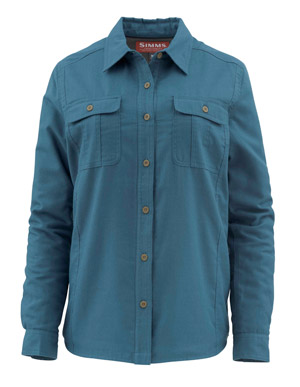 <font color=red>On Sale - Clearance</font><br>Simms Women's Guide Insulated Shirt - Pond