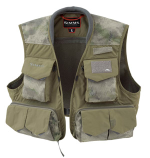 <font color=red>On Sale - Clearance</font><br>Simms Freestone Vest - Hex Camo Loden
