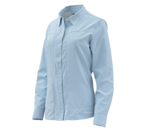 <font color=red>On Sale - Clearance</font><br>Simms Women's Isle LS Shirt - Blue Chill
