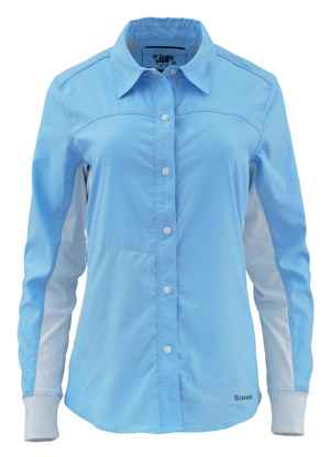 <font color=red>On Sale - Clearance</font><br>Simms Women's BiComp LS Shirt - Light Blue