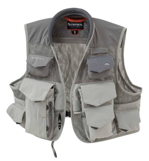 <font color=red>On Sale - Clearance</font><br>Simms Vertical Mesh Vest - Boulder