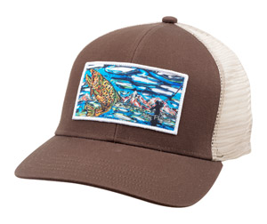 <font color=red>On Sale - Clearance</font><br>Simms Artist Foam Trucker Cap - Brown