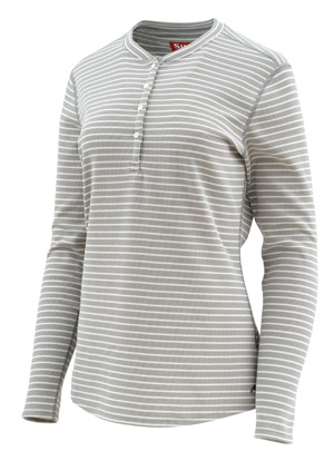 <font color=red>On Sale - Clearance</font><br>Simms Women's Drifter Henley - Granite