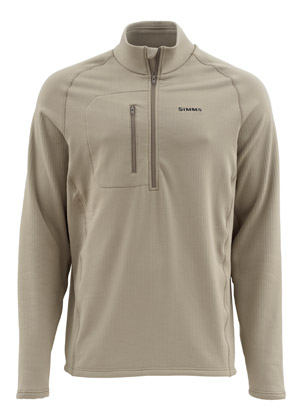 <font color=red>On Sale - Clearance</font><br>Simms Fleece Midlayer Top - Tumbleweed