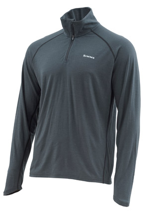 <font color=red>On Sale - Clearance</font><br>Simms Ultra-Wool Core 1/4 Zip - Raven