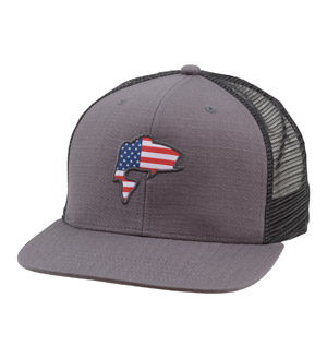 <font color=red>On Sale - Clearance</font><br>Simms Bass Flag Trucker - Carbon