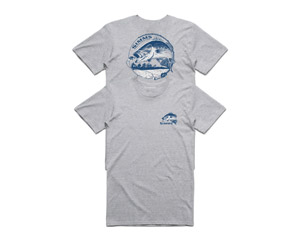 <font color=red>On Sale - Clearance</font><br>Simms Bass Bend T-Shirt - Grey Heather