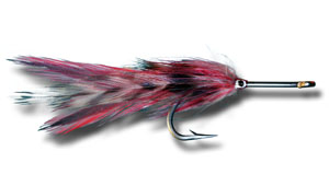 Big Eye Tarpon Fly - Grizzly & Red