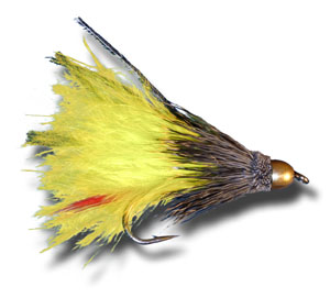 Conehead Marabou Muddler - Yellow