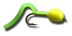 Egg Sucking Squiggly Worm - Fl Green