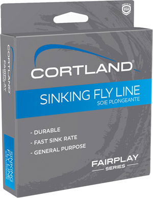 <font color=red>On Sale - Clearance</font><br>Cortland Fairplay Type 2 Sinking Fly Line - Brown