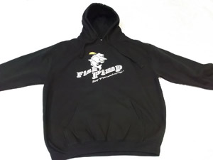 <font color=red>On Sale - Clearance</font><br>Fish Pimp Hoodie - Black